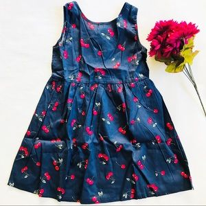 Cherry Print Toddler Dress